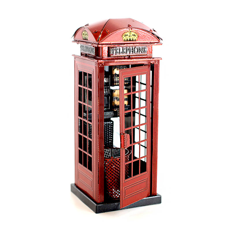 JLCC [3D컬러메탈퍼즐]전화박스(3D Color Metal Puzzle-Phone Booth)