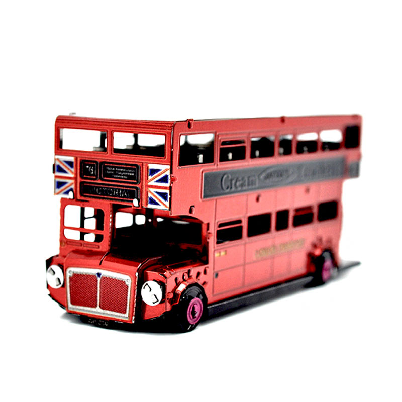 JLCC [3D컬러메탈퍼즐]영국2층버스(3D Color Metal Puzzle-Routemaster)